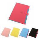 5 Pockets Portable Handle File Folder A4 Size Cute Document Organizer, 9 Colors