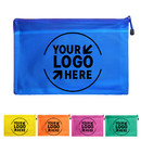 Custom Mesh Laminated Zipper Pouches Transparent Document Folders Pencil Pen Case,9 Colors, 5 Size