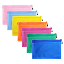Aspire Mesh Laminated Zipper Pouches Transparent Document Folders Pencil Pen Case Multicolor Assorted Size Travel Bags for Office Student Supplies