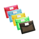 Officeship A4 Plastic Document Folders with Pocket, Expandable Envelope Wallet Envelope Folder with Button Closure, Waterproof Clear File Folders with Business Card Holder