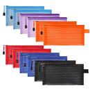 Transparent Mesh Bag Storage Bag Color Stripe 10 Colors B6 Zipper Bag File Bag Large Capacity Bill Bag