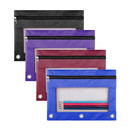 Aspire Binder File Holder Pencil Pouch Zipper Pouch for 3 Ring Binder with 1 Clear View Window, B5 Size