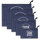 Custom Oxford Thicken Waterproof Zipper Pouches Office Documents Storage Bag Students File Bag