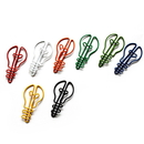 (Price/10 Paper Clips) Custom Light Bulb Shaped Paper Clip, 1 3/4