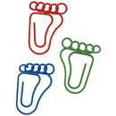 (Price/10 Paper Clips)Custom Cute Foot Shape Paper Clips, 1 1/4