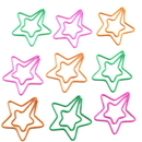(Price/10 Paper Clips) Custom Metal Star Paper Clips, 1 1/4