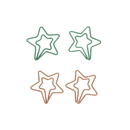 (Price/100 Paper Clips) Metal Star Paper Clips, 1 1/4