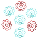 (Price/10 Paper Clips) Blank Flower Paper Clips, 1 1/4