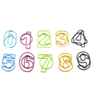 (Price/10 Paper Clips) Custom Creative Fashion Number-Shaped Paper Clips, Bookmarks, 1