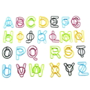 (Price/10 Paper Clips) Blank Letter Shaped Paper Clips, 1 1/2