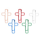 (Price/10 Paper Clips) Custom Cross Shaped Paper Clips, 1 1/2