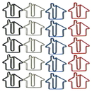 (Price/10 Paper Clips) Blank House Shaped Paper Clips, 1 1/4