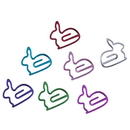 (Price/10 Paper Clips) Blank Rabbit Shaped Paper Clips, 1 1/4