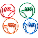 (Price/10 Paper Clips) Blank Thumb Shaped Paper Clips, 1 1/4