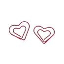 (Price/100 Paper Clips) Red Heart Shaped Paper Clips, 1 1/8