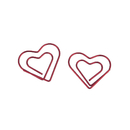 (Price/100 Paper Clips) Double Heart Paper Clips, 1 1/8