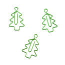 (Price/100 Paper Clips) Christmas Tree Shaped Paper Clips, 1 1/4