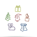 (Price/18 Clips) Christmas Paper Clips, Bell/Santa/Christmas Tree/Present/Candle/Stocking Shaped Clips