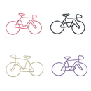 (Price/100 Paper Clips)Blank Bicycle Shaped Paper Clips,2 1/2