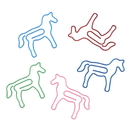 (Price/100 Paper Clips)Blank  Horse Shaped Paper Clips,1 3/8