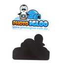 Blank Cute Penguin with Camera Flexible Magnet, 3 1/4
