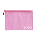 Custom Soft PVC Zip Closure Mesh File Sleeve, 13