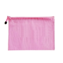 Blank Soft PVC Zip Closure Mesh File Sleeve, 13
