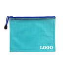 Custom Soft PVC Zip Closure Mesh File Sleeve, 11 1/4