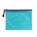 Blank Soft PVC Zip Closure Mesh File Sleeve, 11 1/4