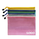 Custom Soft PVC Zip Closure Mesh File Sleeve, 9 1/2