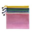 Blank Soft PVC Zip Closure Mesh File Sleeve, 9 1/2