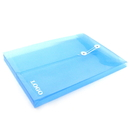 Custom Transparent PP File Folder with String, 12 3/4