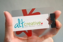 Clear Plastic Business Cards, Silk Printed - Thickness 0.5mm