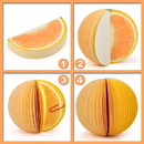 Blank Orange Shape Memo Pads, Promotional Orange Notes Pads