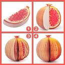 Blank Pomegranate Shape Memo Pads, Promotional Pomegranate Notes Pads