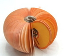 Custom Pumpkin Shape Memo Pads, Promotional Pumpkin Notes Pads