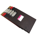 Blank PU Leather Dual Clipboard Folder with One Inside Pocket, 13
