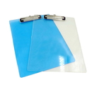 Blank Transparent Plastic Clipboard with Flat Clip, 13