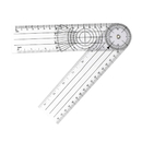 Custom Clear PVC Clinical Goniometer, 8 1/2