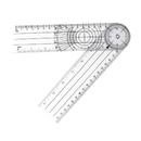 Custom Clear PVC Clinical Goniometer, 8 1/2