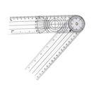 Blank Clear PVC Clinical Goniometer, 8 1/2