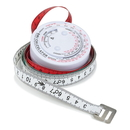 Blank Round BMI Calculator with 60 Inch Tape Measure, 2 3/4