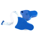 Blank Blue Plastic Body Tape Measure, 3 1/2