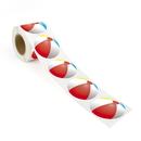 Beach Ball Sticker, 250pcs per Roll, 2