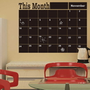 Removable Month/Week/Day Planner Chalkboard Decal, Wall Sticker, 23