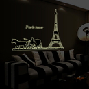 Fluorescent Luminous Wall Decals for Home, Restaurant, Window Decoration, 23 1/2