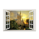 3D Removable Window View Wall Stickers, Home Art DIY Decoration, Various Patterns, 15 3/4