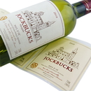 100 PCS Custom Matte Wine Labels w/Red Foil Stamping, 3.5