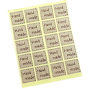 2000 Square Handmade Kraft Paper Stickers/Baked Goods label/Bonbonniere Favor Gift Tags, 4/5