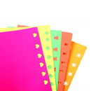 50 PCS Colorful Self Adhesive Paper for Kid Card Scrapbooking, DIY Handmade Sticker Works With Craft Punch, Cricut and Other Cutters
